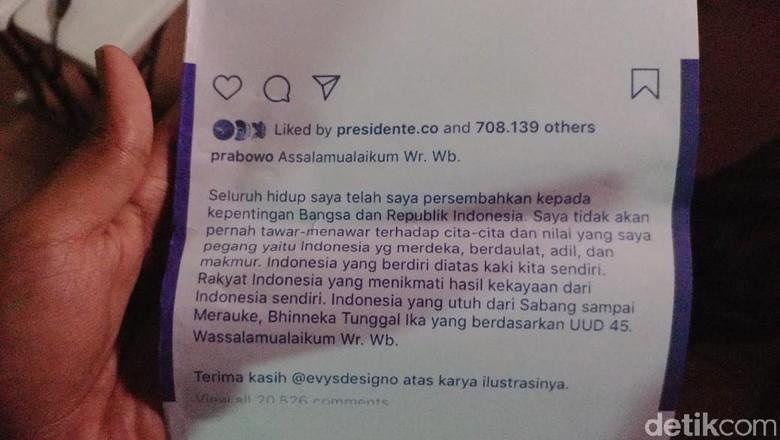 Saat Amien Rais Print Postingan IG Prabowo Usai Bertemu Jokowi