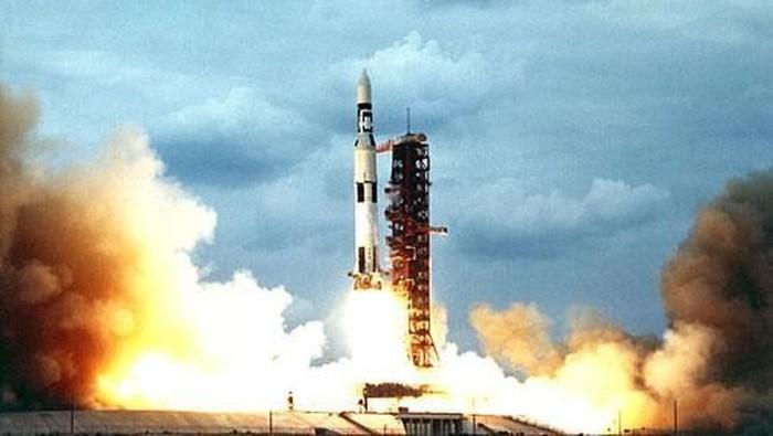 Peluncuran terakhir roket Saturn V pada 1973. Foto: NASA