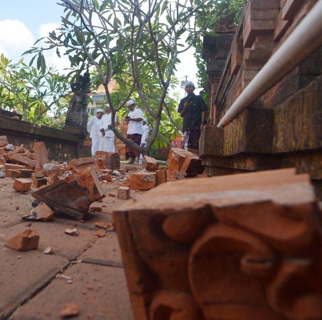 Begini Dampak Kerusakan Gempa M 6 di Bali