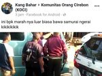 Video Pemobil Cekcok Bawa Pedang Samurai di Jalanan Cirebon