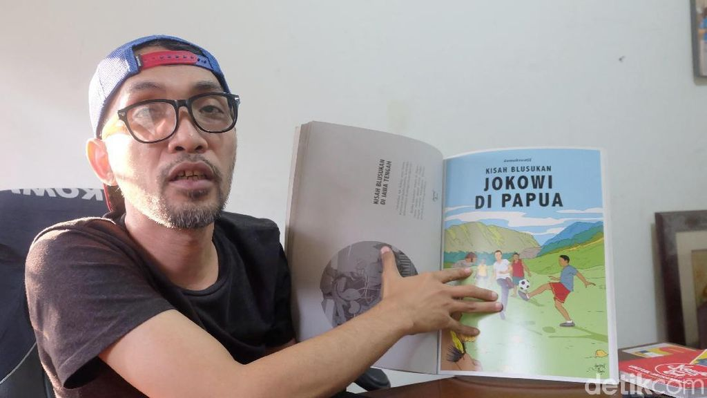 Hari Prast Ungkap Awal Kisah Komik Jokowi Bergaya Tintin yang Fenomenal