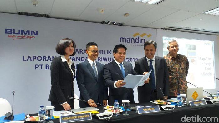 Foto: Laporan Keuangan Semester I 2019 Bank Mandiri (Sylke Febrina Laucereno/detikFinance)