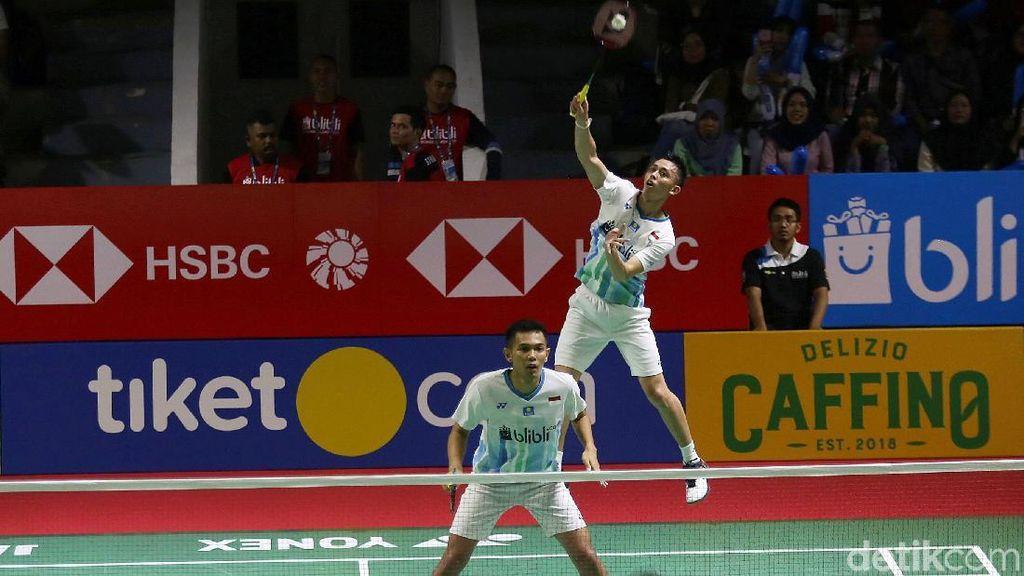 Bermain Tenang di Gim Kedua, Fajar/Rian Jejak 16 Besar Indonesia Open