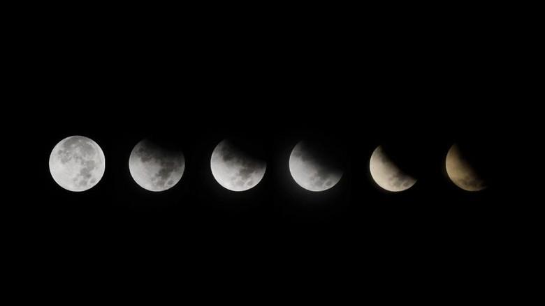 Potret Gerhana Bulan dari Langit Padang hingga Bekasi