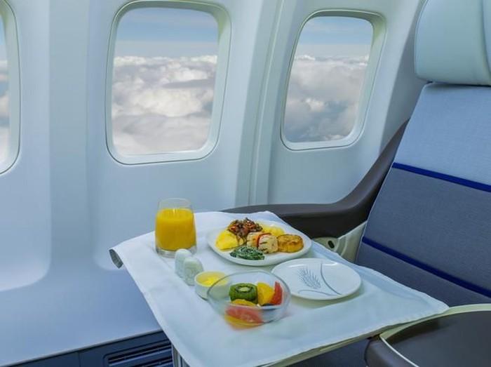Menu makanan pesawat