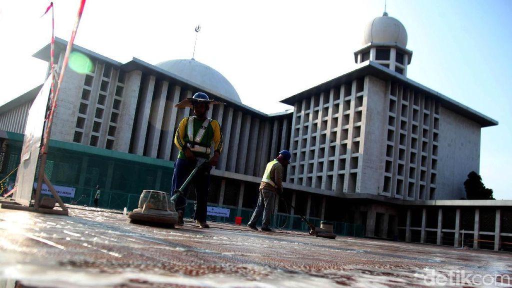 Proses Renovasi Masjid Istiqlal Sudah Sampai Lantai Utama