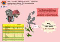 Infografis dampak Pulau Bacan, Halmahera Selatan.