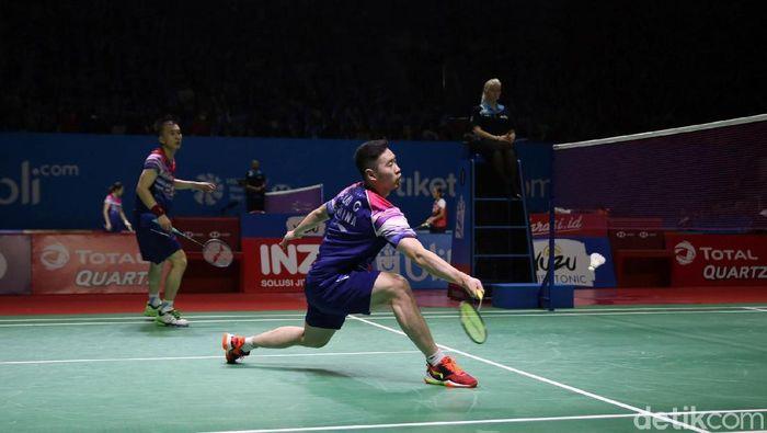 Huang Kaixiang/Liu Cheng cuma dijajal pada tur Asia. (Agung Pambudhy/detikSport)