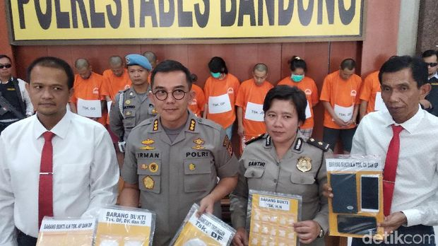 Polisi Tangkap 36 Orang Pengedar-Pengguna Narkotik di Bandung