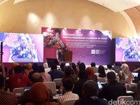 Menpar Arief Yahya memberikan sambutan (Wahyu Setyo Widodo/detikcom)