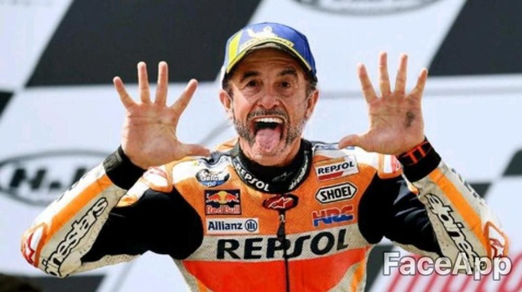 Begini Tampang Marquez dan Rider MotoGP Lain Saat Tua Nanti