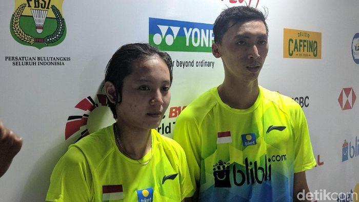 Ronald Alexander dan Annisa Saufika tersingkir di babak pertama Indonesia Open 2019. (Putra Rusdi/detikSport)
