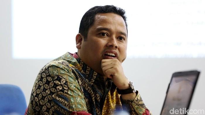 Walikota Tangerang Arief R Wismansyah saat bertandang ke kantor detikcom