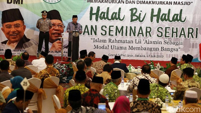 Foto: Wapres JK Buka Halalbihalal DMI (Rengga Sancaya-detikcom).