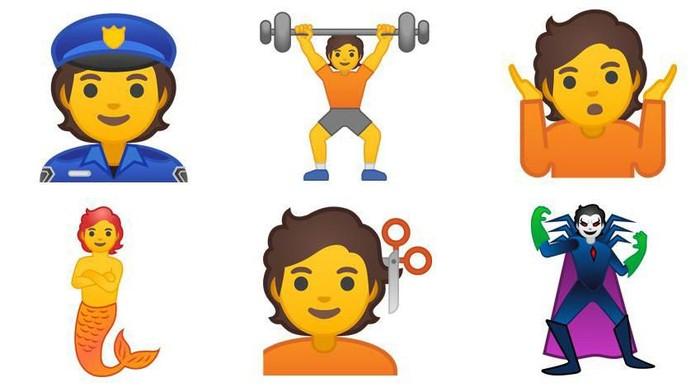 Deretan emoji baru yang akan diluncurkan Google. Foto: Emojipedia