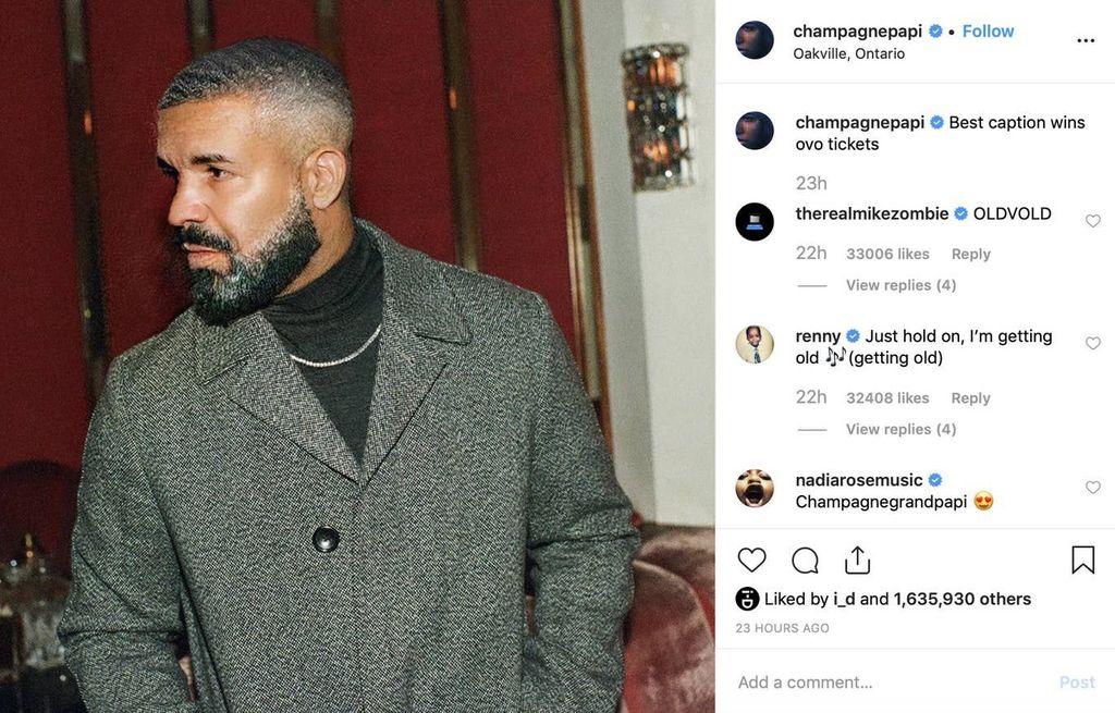 Drake. Foto: Instagram
