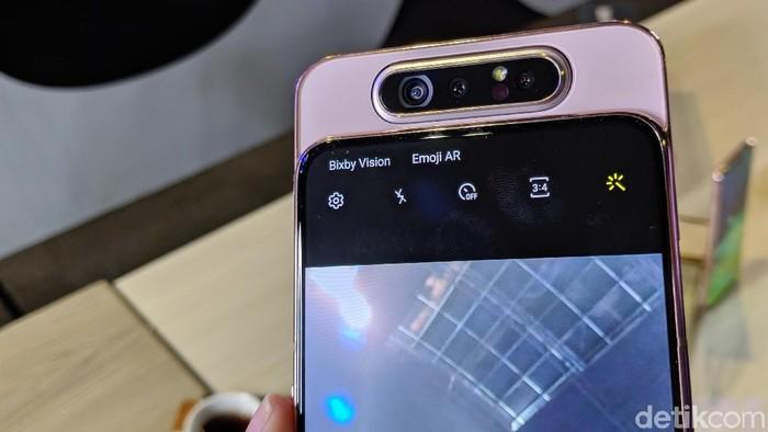 Samsung Galaxy A80. (Foto: Adi Fida Rahman/detikINET)