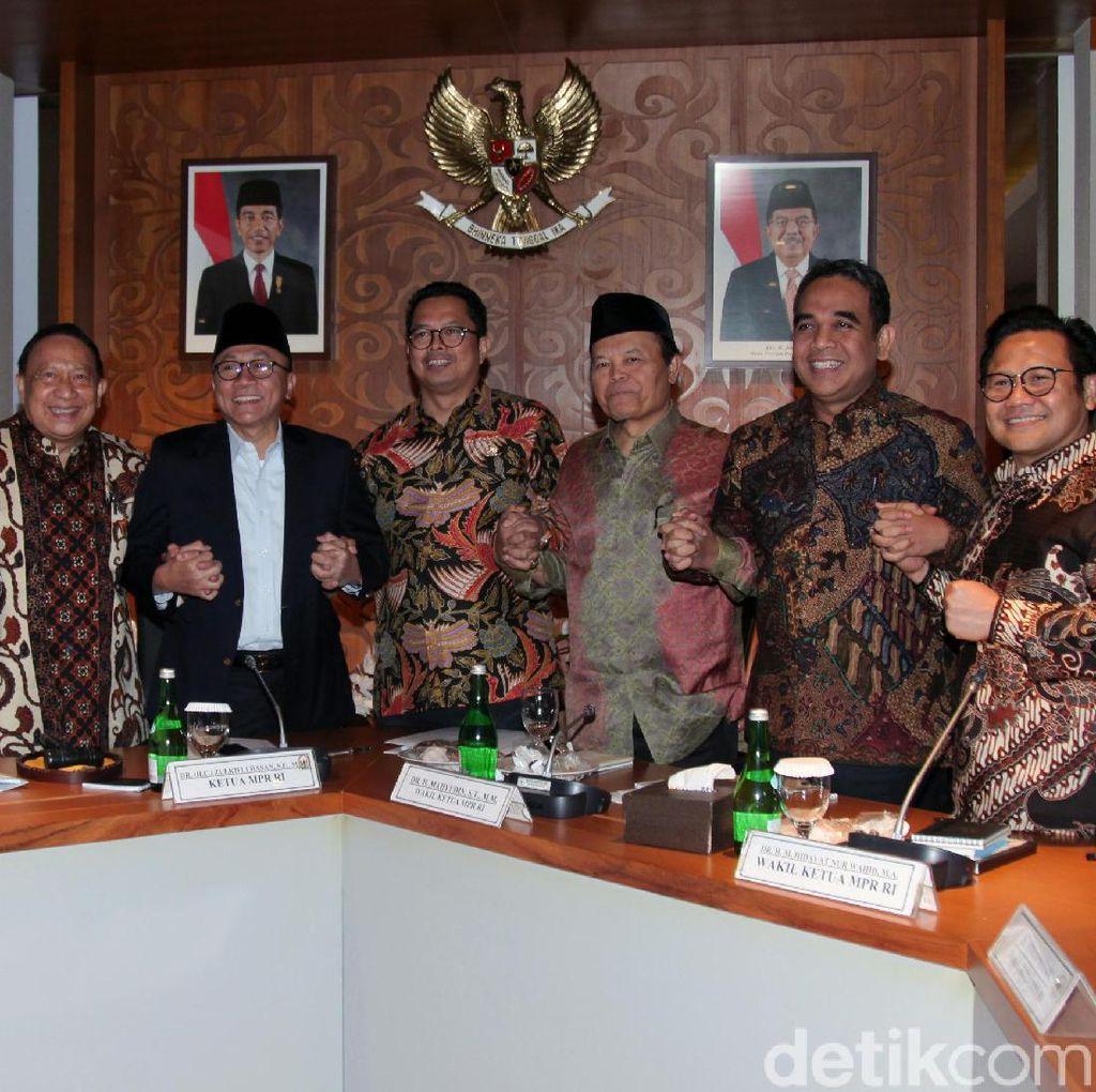Saat Para Pimpinan MPR Gelar Rapat di Akhir Masa Jabatan