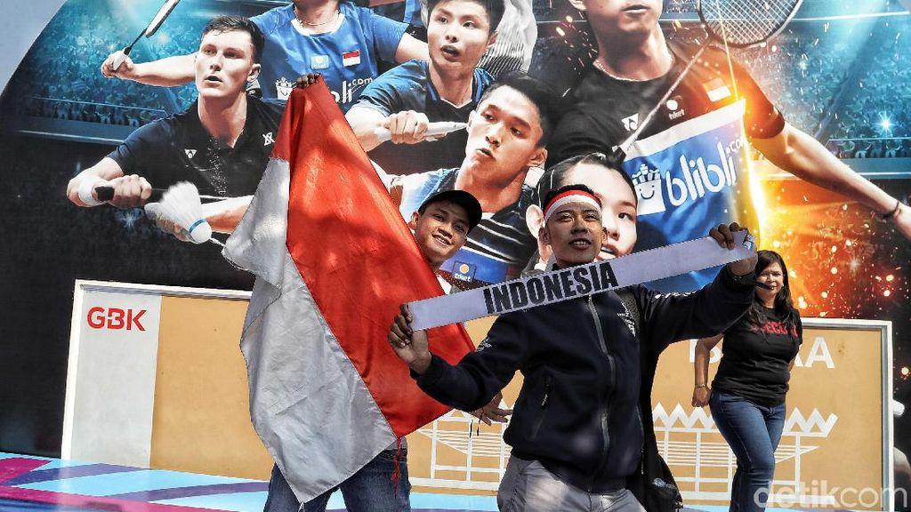 Suporter Indonesia Bikin Pemain Lawan Gagal Fokus di Indonesia Open