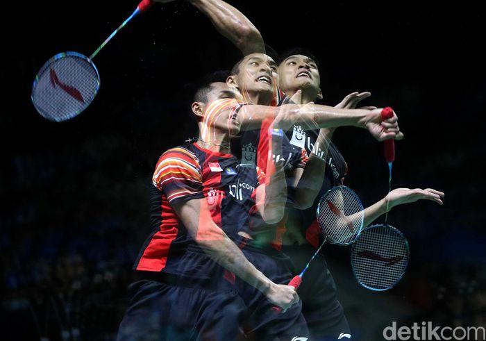 Jonatan Christie memastikan dirinya melaju ke babak perempat final Indonesia Open 2019.