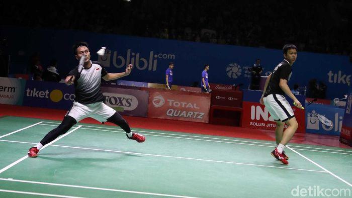 Mohammad Ahsan/Hendra Setiawan menempati peringkat kedua BWF. (Foto: Pradita Utama)