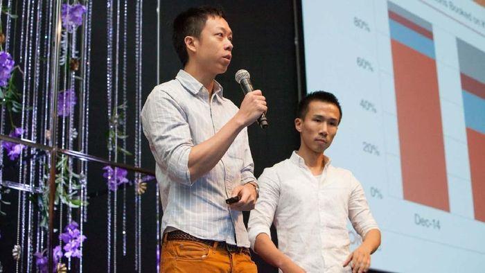 Para pendiri Klook, Eric Gnock Fah (kiri) dan Ethan Lin. Foto: Dok. Reuters