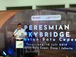 PT KAI Resmikan Skybridge Stasiun Batuceper Penghubung KRL-Kereta Bandara