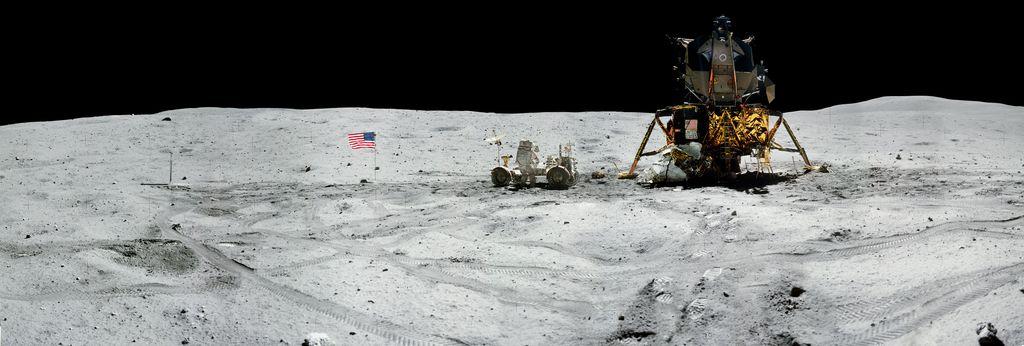 Melalui laman resminya, NASA mengumumkan telah merilis puluhan foto panorama dari sejumlah misi pendaratan Bulan yang telah dilakukannya. Foto: NASA