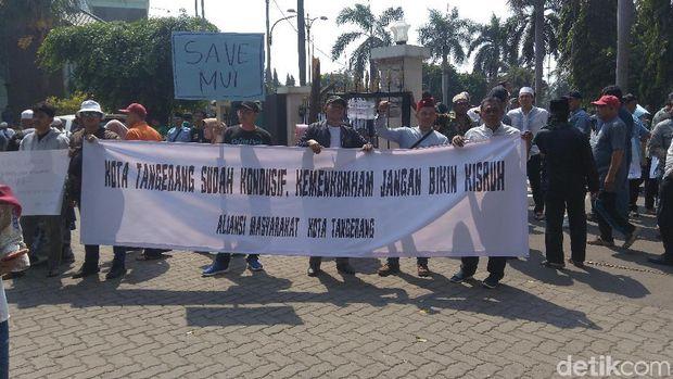 Ada Demo Tuntut Kemenkum HAM Serahkan Lahan Gedung MUI Tangerang ke Pemkot