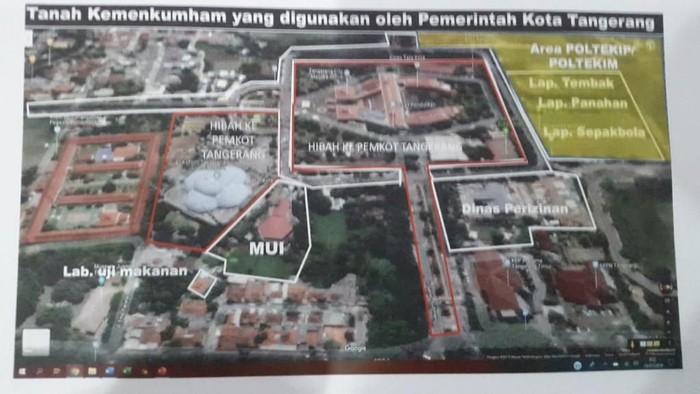 Foto: Tanah Kemenkum HAM yang dipakai Pemkot Tangerang (ist.)