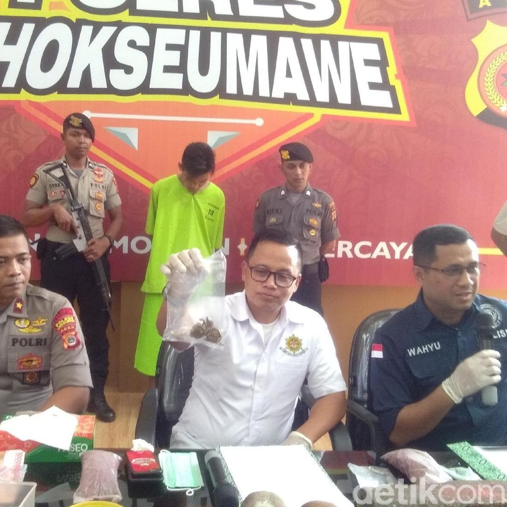 Polisi Bongkar Pabrik Ekstasi Palsu di Lhokseumawe, 1 Orang Ditangkap