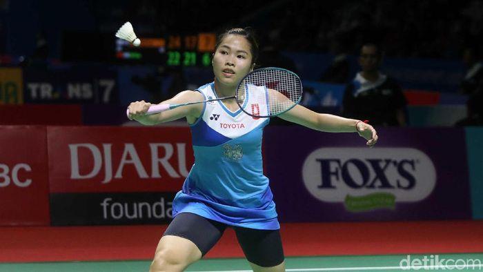 Ratchanok Intanon mengakui mendapatkan perlawanan ketat dari Gregoria Mariska Tunjung di babak kedua Indonnesia Open 2019. (Pradita Utama/detikSport)