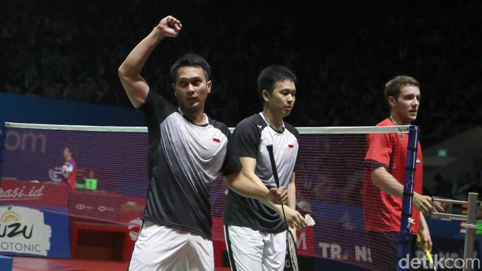 Hendra Setiawan/Muhammad Ahsan dapat liburan sehari jelang keberangkatan ke Kejuaraan Dunia 2019 (Pradita Utama/detikSport)