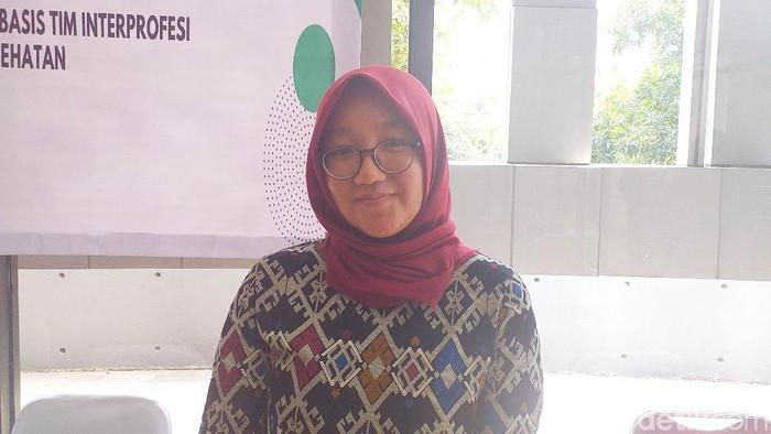 Eka mengungkapkan kesultan mengajak masyarakat ke fasilitas kesehatan. (Foto: Khadijah Nur Azizah/detikHealth)