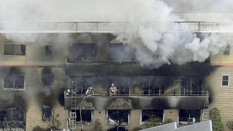 Korban Tewas Kebakaran Studio Animasi Jepang Jadi 33 Orang