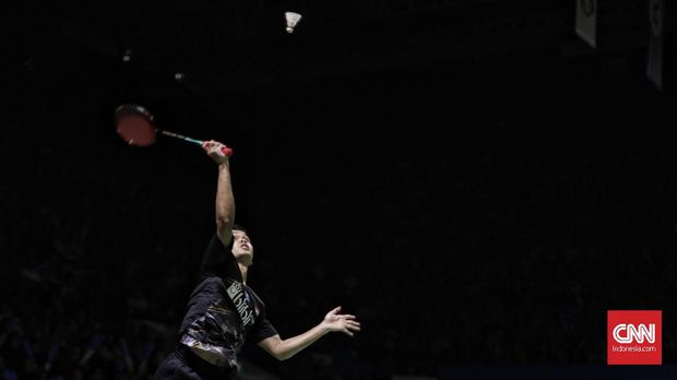 Anthony Ginting hadapi Anders Antonsen.