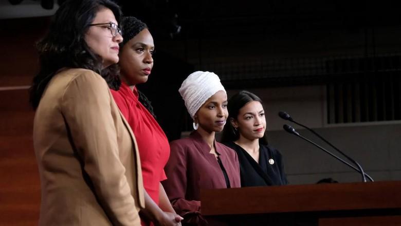 Sosok 4 Wanita The Squad Anggota Kongres AS yang Ribut dengan Trump