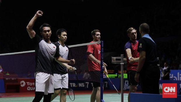 Ahsan/Hendra melaju ke semifinal Indonesia Open 2019.