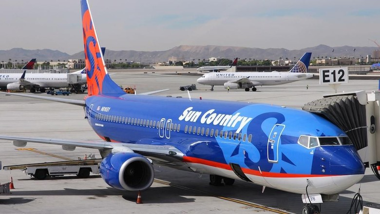 Ilustrasi maskapai Sun Country Airlines (Sun Country Airlines)