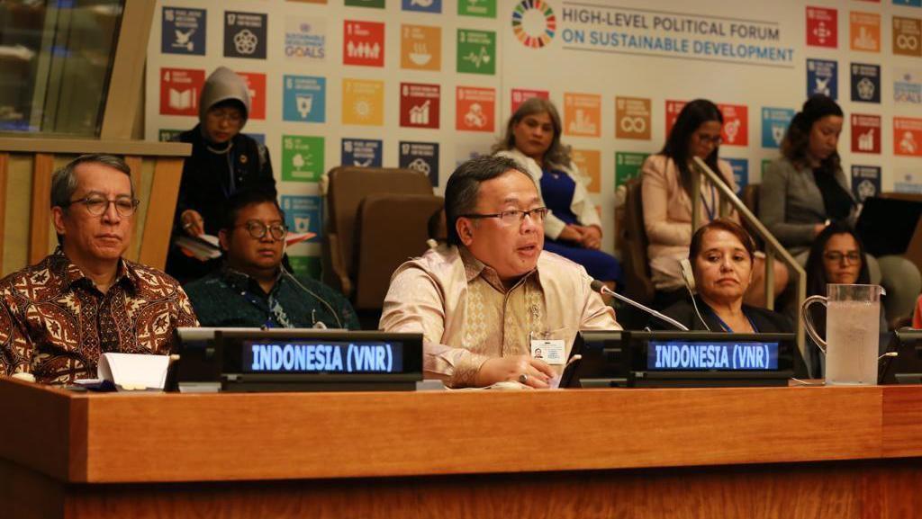Kepala Bappenas Pamer Pembangunan dan Ekonomi RI di Kantor PBB