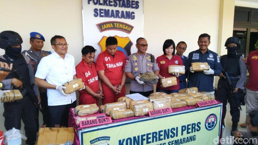 Paket 30 Kg Ganja Disergap Polisi di Tol Semarang