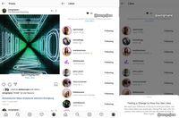 Tampilan feed Instagram tanpa jumlah like.
