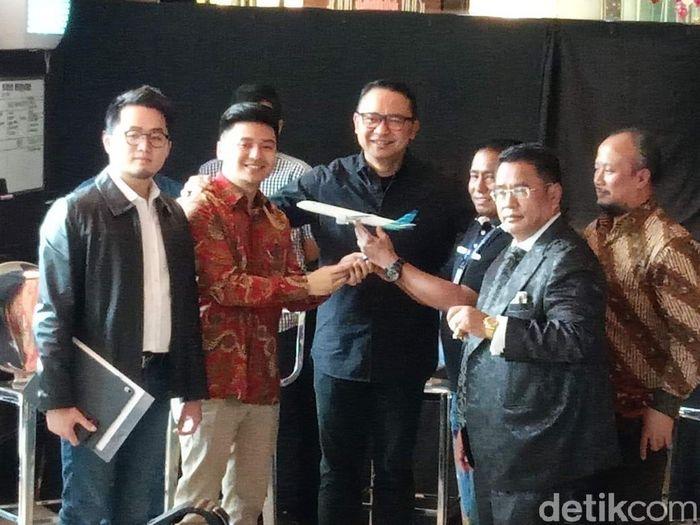 Suasana pertemuan pihak Garuda Indonesia dengan Rius Vernandes (Foto: Herdi Alif Al Hikam detikcom)