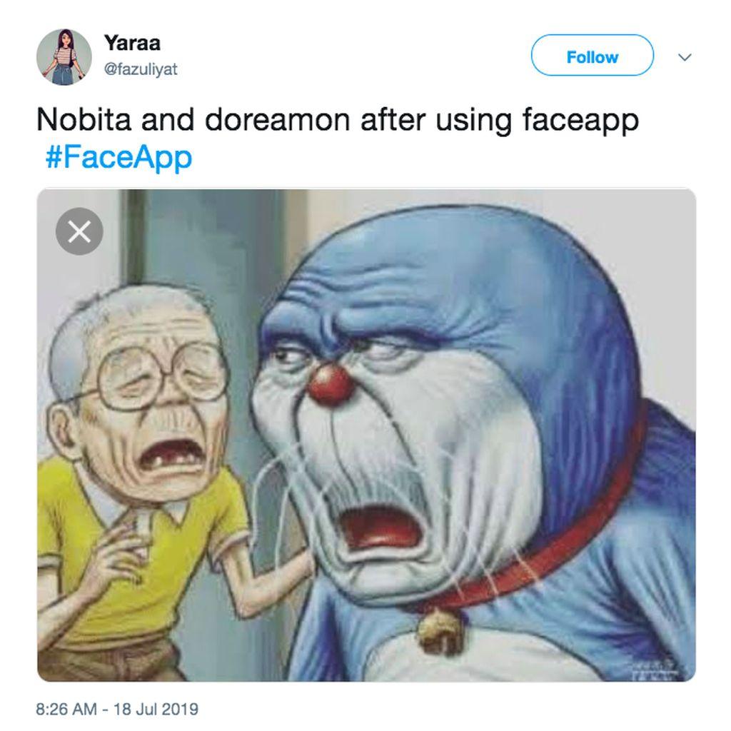 Meme-meme Menggelikan Tentang FaceApp