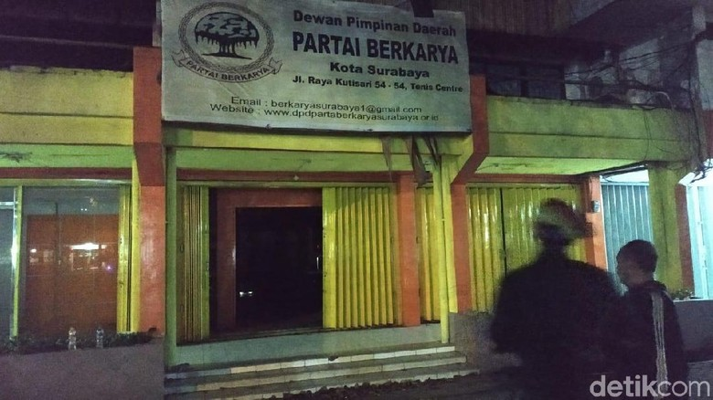 Kantor Partai Berkarya Kota Surabaya Dibobol, Dokumen Penting Raib