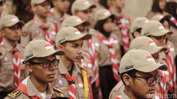 Jokowi Lepas Kontingen Gerakan Pramuka ke Jambore se-Dunia di AS
