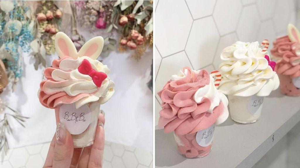 Cantiknya Soft Ice Cream Buket Bunga yang Manis dan Lembut
