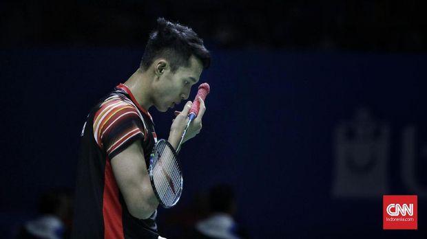 Jonatan Christie berhasil melalui adangan Suppanyu Avingshon di babak pertama Japan Open.