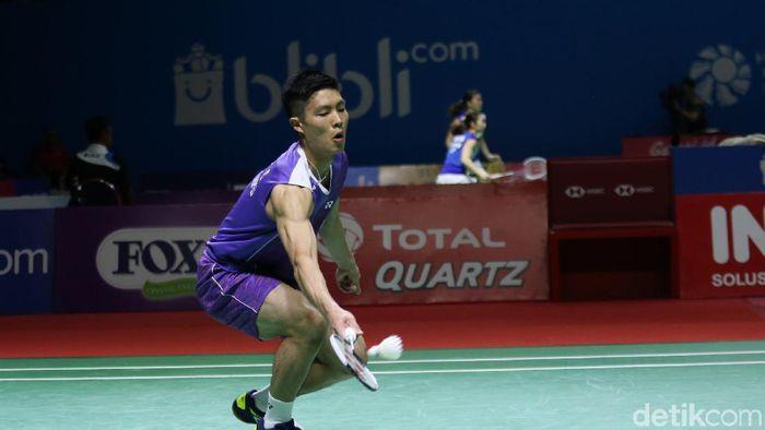 Chou Tien Chen juara Indonesia Open 2019. (Agung Pambudhy/detikSport)