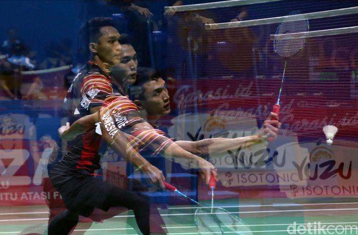Jonatan Christie kandas di babak perempatfinal Indonesia Open 2019. Indonesia tak memiliki satupun wakil tunggal putra di semifinal.